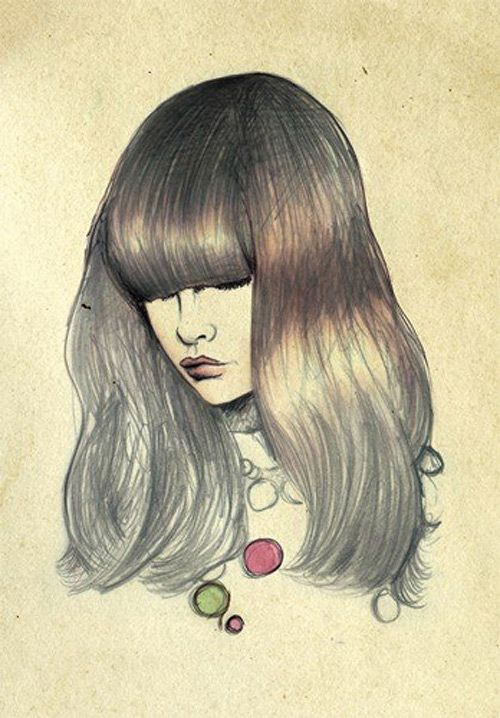 Lady with bangs
