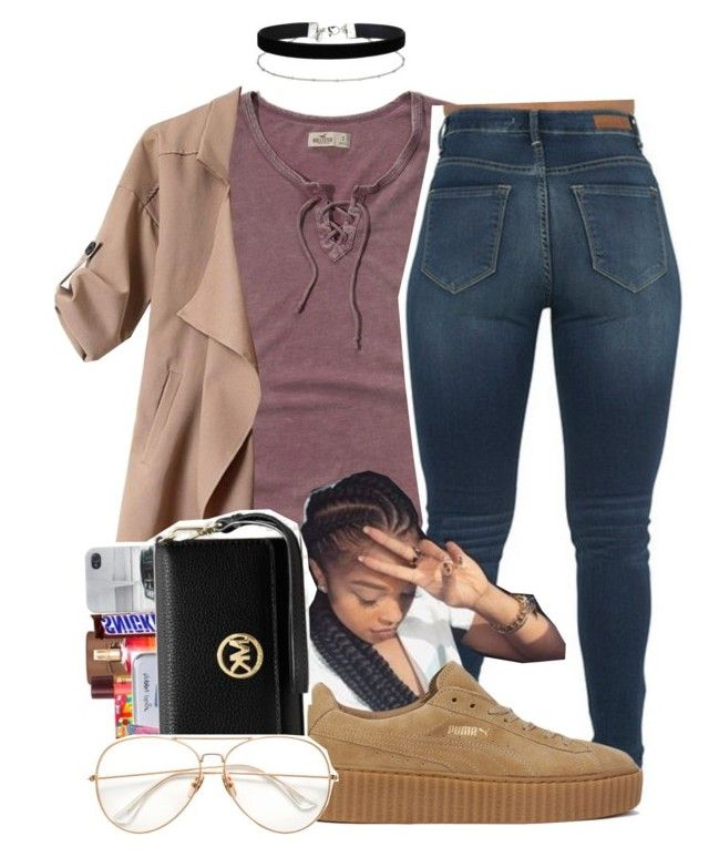 """Untitled #361"" by darkskinn-awa ❤ liked on Polyvore featuring Hollister Co., Puma and Miss Selfridge"