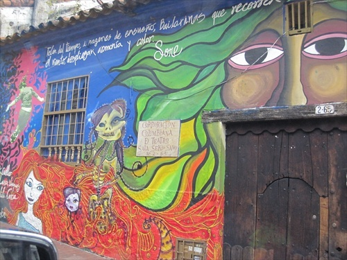 There are many interesting sites in Bogota, like tours to see Street Art.  #colombia #bogota #tourism #travel #street art