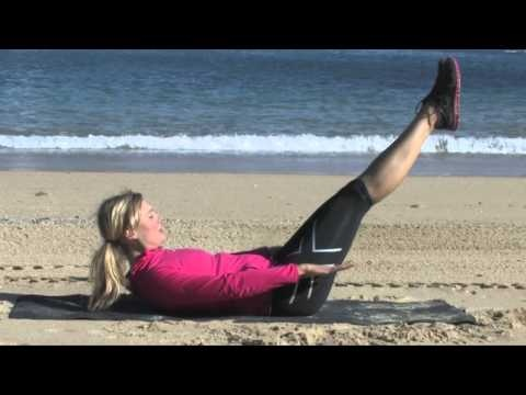 How to do Pilates 100's .. Sol Walkling takes us through her Pilates 100s exercise's on Shelly Beach just near Manly Beach in Sydney Australia.