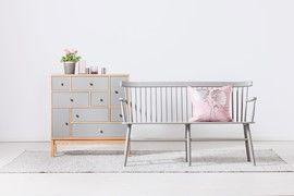 Living Care förvaring/byrå - lergrå/ek - Svenska Hem