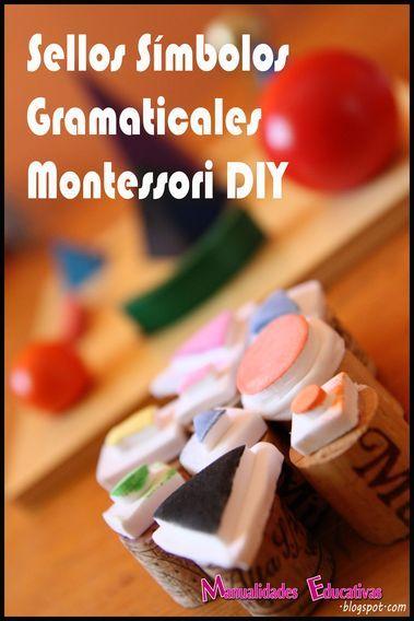 Sellos de los Símbolos Gramaticales Montessori DIY (Montessori Grammar Symbol Stamps DIY)