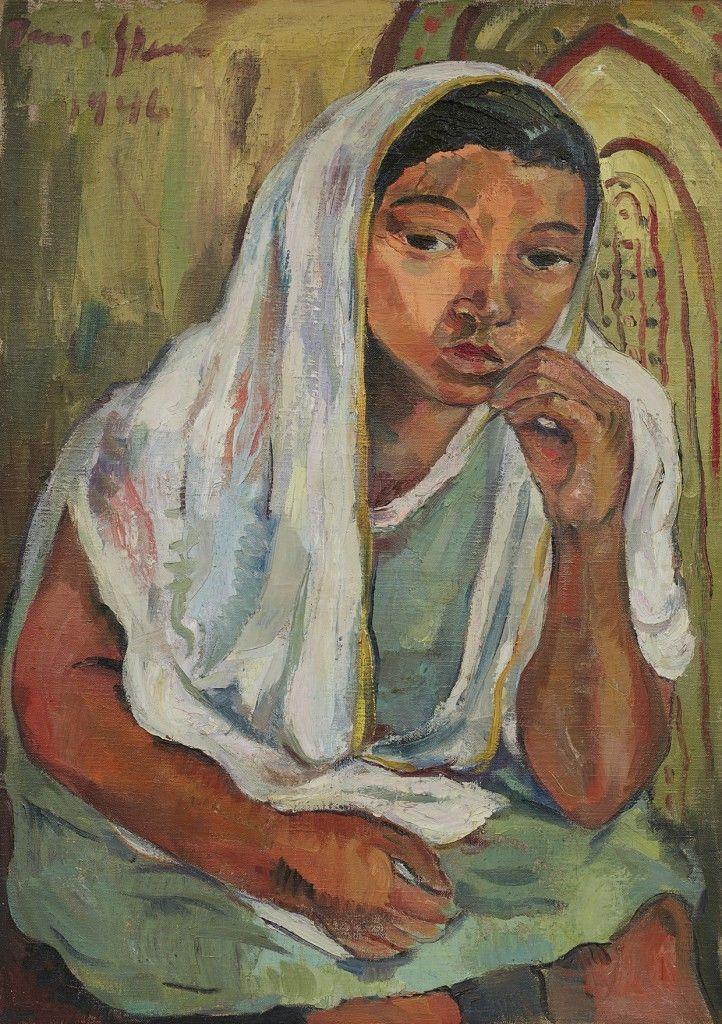 Irma Stern, Malay Girl, 1946 / https://www.barnebys.com/blog/article/8473/?utm_source=Newsletter+en_US&utm_campaign=b63f6b2ae6-US_Week_Sun_42_201610_21_2016&utm_medium=email&utm_term=0_dd36bfa54f-b63f6b2ae6-174905213