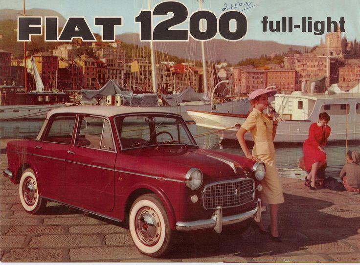 1958 Fiat 1200 Brochure USA