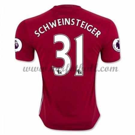 Billige Fotballdrakter Manchester United 2016-17 Schweinsteiger 31 Hjemme Draktsett Kortermet