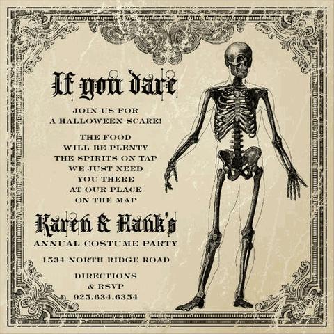 If You Dare Halloween Invitations