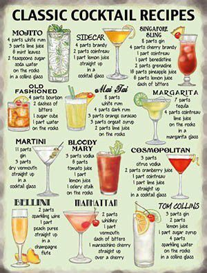 Classic Cocktail Recipes!