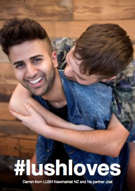 Following Lush North America's campaign reveal last week, Lush Australia also feature a same-sex couple for Valentine's Day