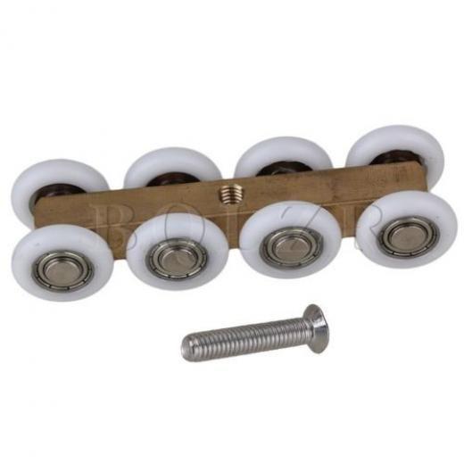 Bqlzr Solid Copper 8 Wheels Shower Glass Sliding Door Hanging Wheel Roller Pulley 23mm Us103jk