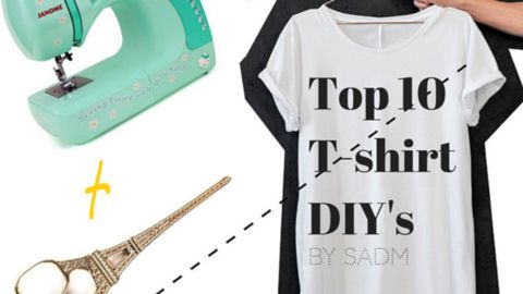 Want to throw away your old T-shirt? WAIT! we have found some cool DIY's to make your out-dated shirt a real fashion item! #SADMBlog #DIY #Tshirt