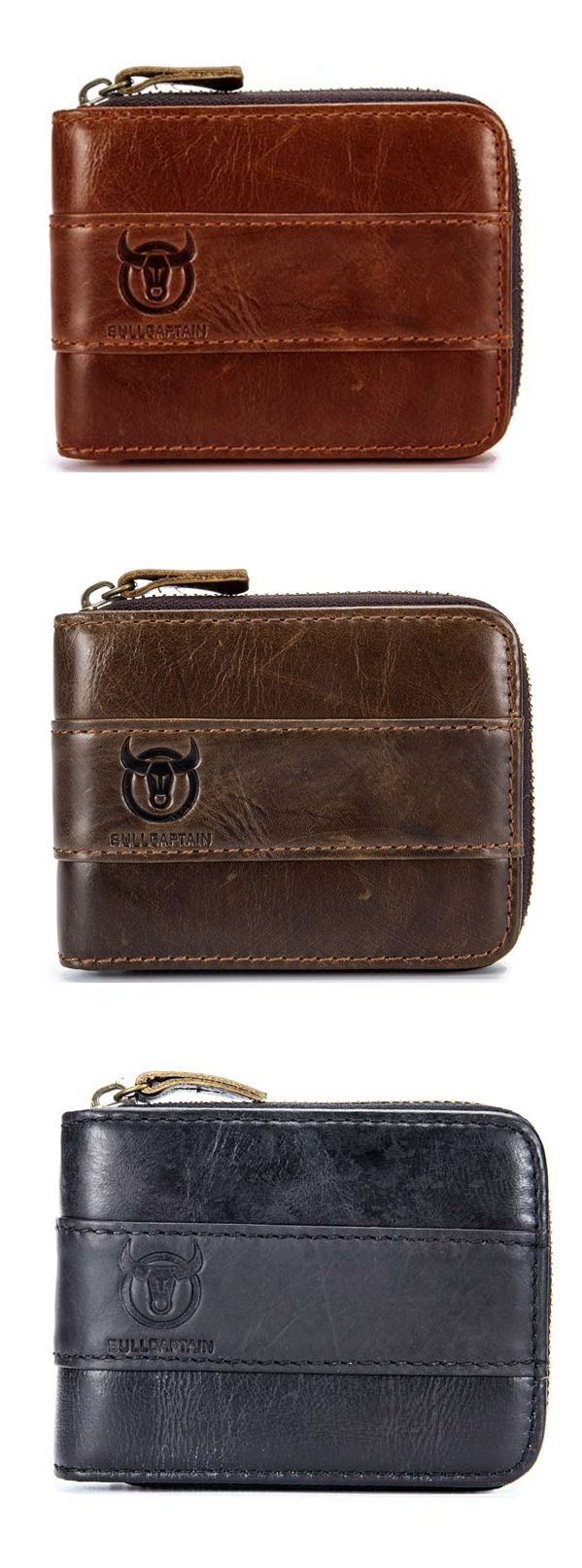 RFID Antimagnetic Vintage Genuine Leather 11 Card Slots Coin Bag Wallet For Men.Shop Today!