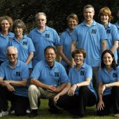 Longwater Tai Chi Downton class members pose for the Downton Village Calendar