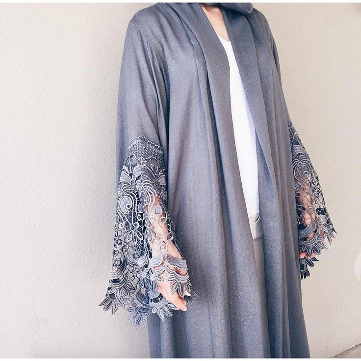 @laillimirza in this sultry grey robe by Qabeela. The lace sleeves are to die for! Limited stock buy now via link in bio.