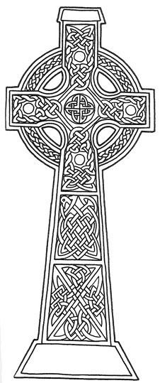 celtic coloring pages | Celtic Cross Coloring Page - image #1