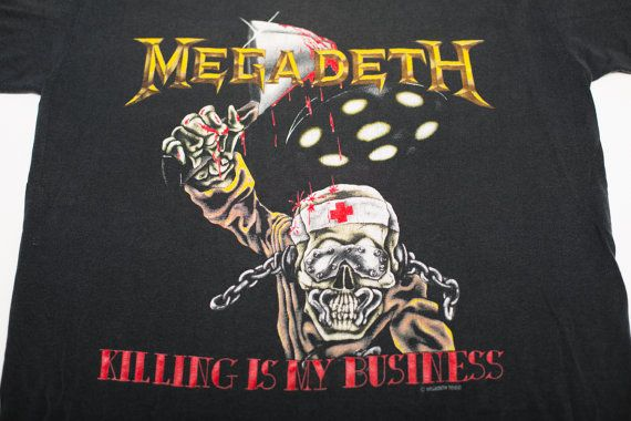 Vintage 1988 Megadeth Killing Is My Business T-Shirt by TimeForMemories