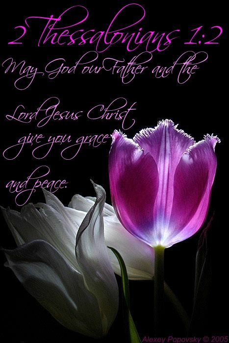 2 Thessalonians 1:2 May God our Father and the Lord Jesus Christ give you grace and peace.