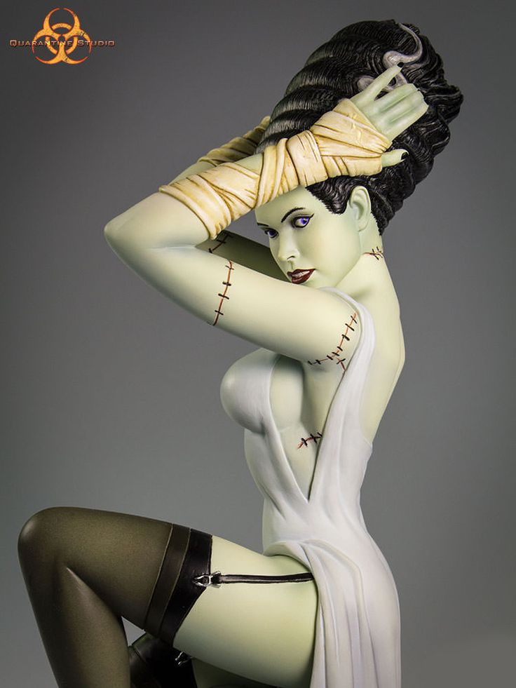 Bride of Frankenstein Death Becomes Her Statue - Click Image to Close