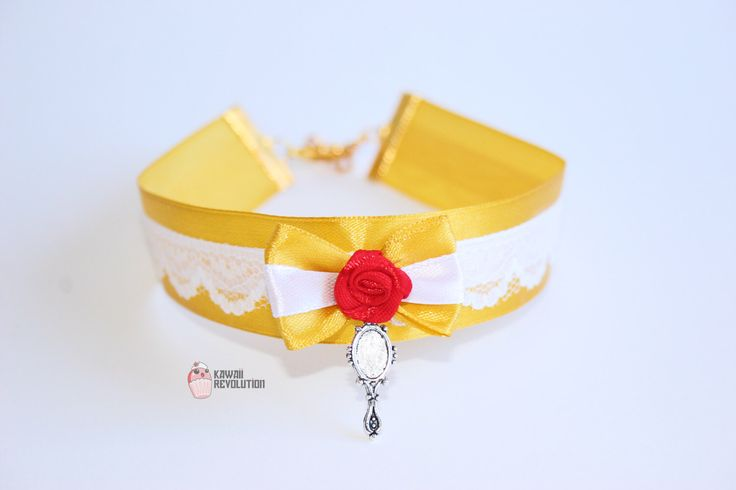 Choker Princess Beauty Yellow Pastel Goth Kawaii Cosplay ddlg beast kitten play collar by KawaiiRevolution on Etsy https://www.etsy.com/listing/268520046/choker-princess-beauty-yellow-pastel