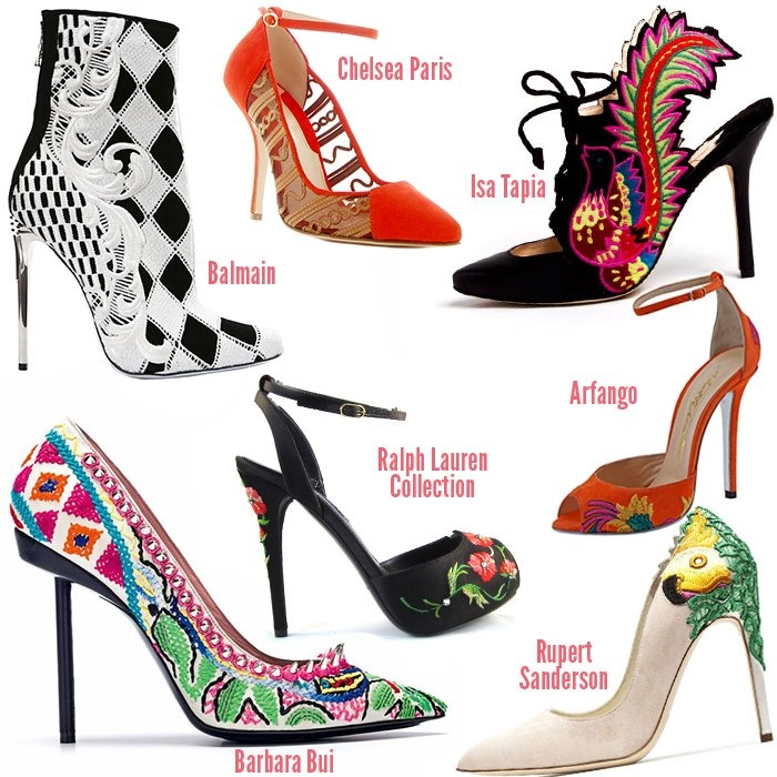 fashion shoe trends 2013 embroidered shoes  #fashion #fashion2013 #fashiontrends2013