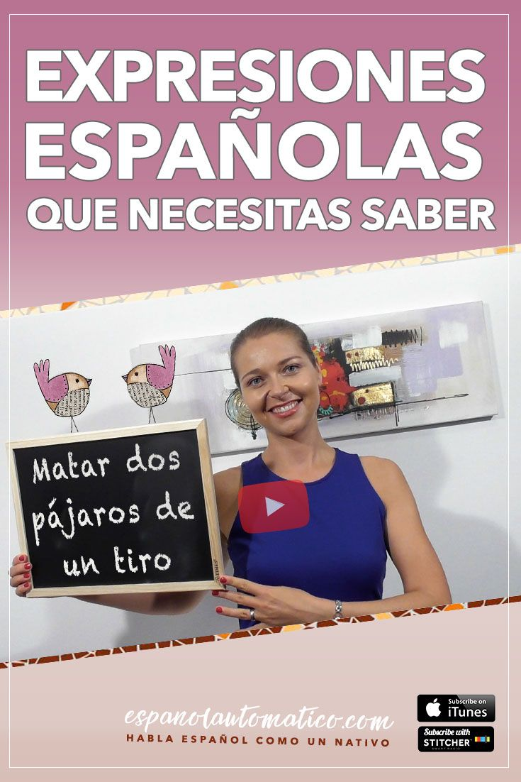 ¿Conoces esta expresión española? Matar dos pájaros de un tiro [Spanish Podcast 023] Learn Spanish in fun and easy way with our award-winning podcast: http://espanolautomatico.com/podcast/ REPIN for later