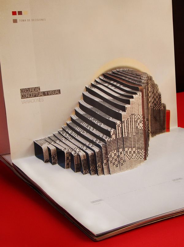 Pop up book - A.I. (2008) by Mariano Sidoni , via Behance