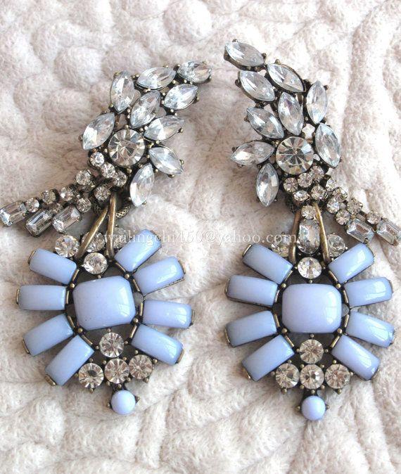 Elegante fiore ragazza orecchini, orecchini, orecchini da sposa, damigella d'onore regalo, orecchini a goccia, orecchini Chunky, vacanza orecchini, orecchini di istruzione