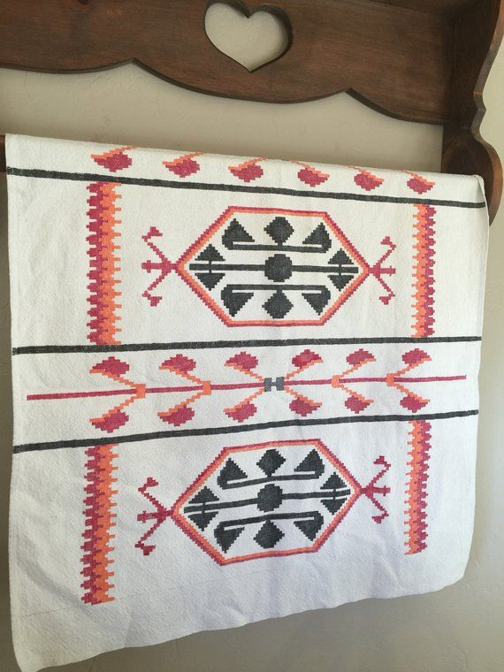 Vintage Rustic Southwest Tablecloth Or Runner Farmhouse Style