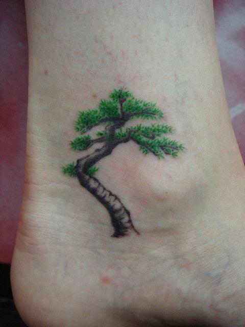 bonsai tree (Dejavu Tattoo Studio Chiangmai Thailand) by augrust, via Flickr