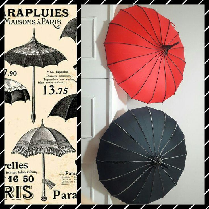 """Paraguas / Sombrilla tipo Parisino """"La Capucine""""  $500.00 Paris Moda Deco Parisino Paraguas Sombrilla Accesorios Trendy"""