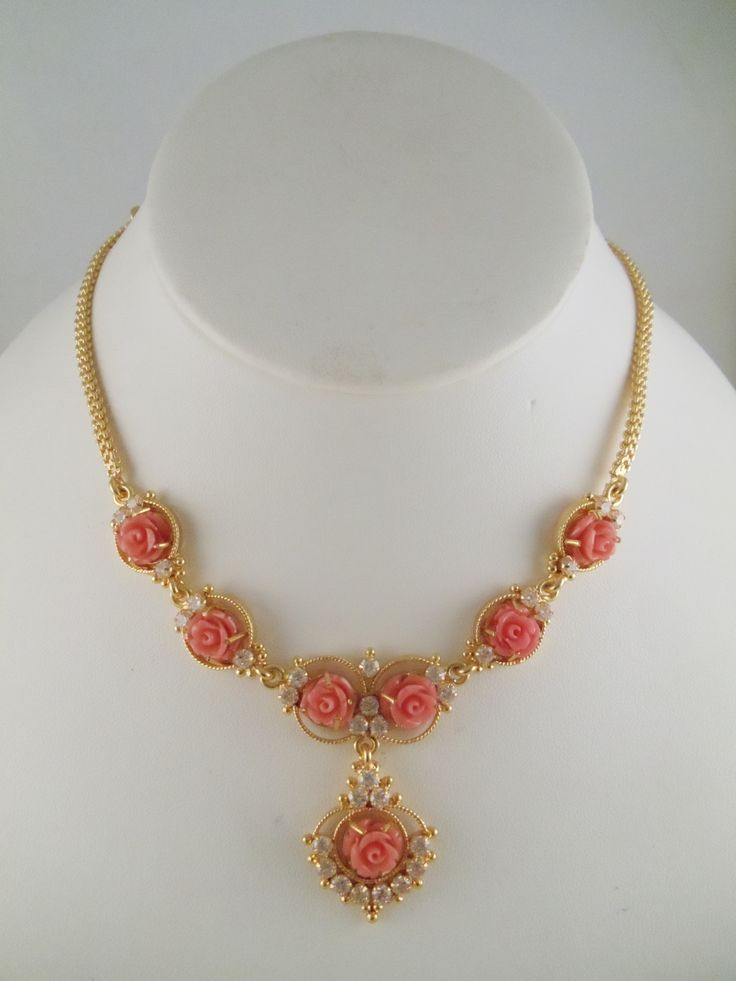 Coral Roses South Indian Jewelry Designs Pinterest