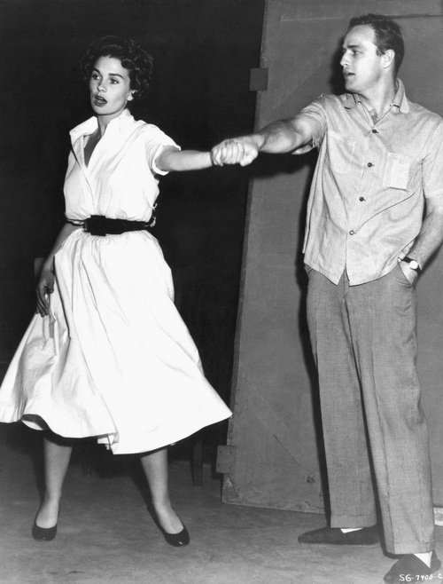 Marlon Brando and Jean Simmons- rehearsing for Guys and Dolls!
