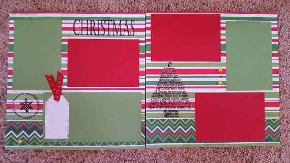 Pre-made 12x12 Christmas Scrapbook Pages by WhimsicalScrapbooks
