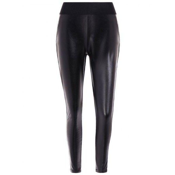 Elastic Waist PU Leather Fleece Leggings ($21) ❤ liked on Polyvore featuring pants, leggings, leatherette leggings, fleece pants, elastic waistband pants, white fleece pants and elastic waist pants