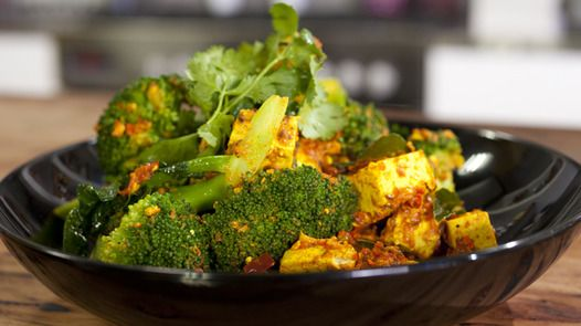 Spicy Bengali Tofu with Broccoli Janella Purcell