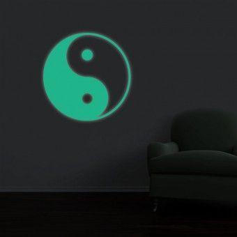 Sticker fosforescent - Yin Yang : Fosforescente - ★ Stickere Decorative ★ Stickere.Net ✫ Autocolante decorative de perete ®