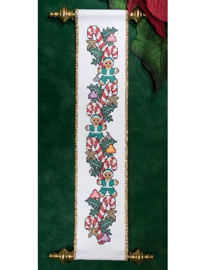 Christmas Goodies Bellpull free cross-stitch pattern of the day from freepatterns.com 8/14/13