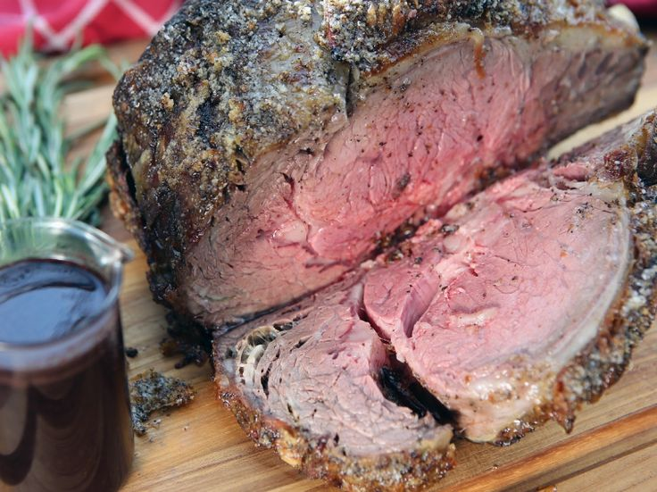 Prime Rib Roast with Red Wine Au Jus recipe from Nancy Fuller via Food Network  beef, dinner, main dish, roast, roasting, holiday, recipes