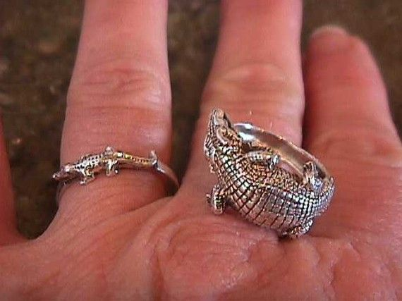 Petite Alligator Ring Sterling Silver 925 Florida Gators