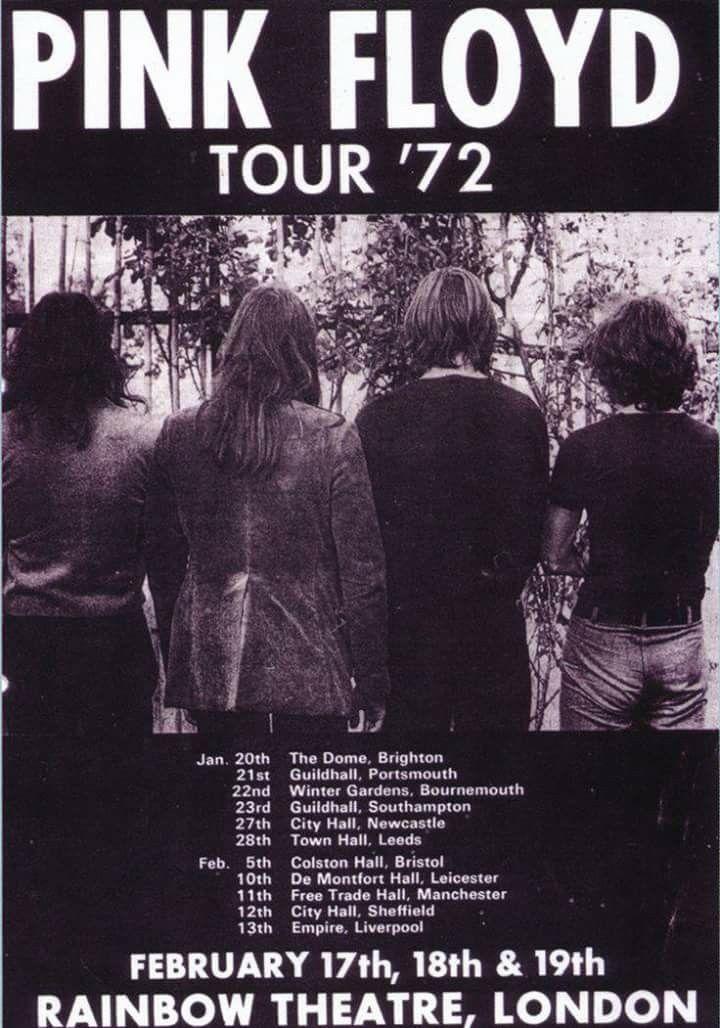 Pink Floyd 1972 Tour