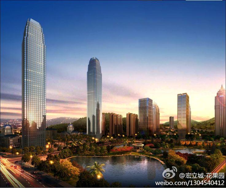 GUIYANG | Huaguoyuan Project | 406m x 2 | 1332ft | 64 fl | U/C - SkyscraperCity
