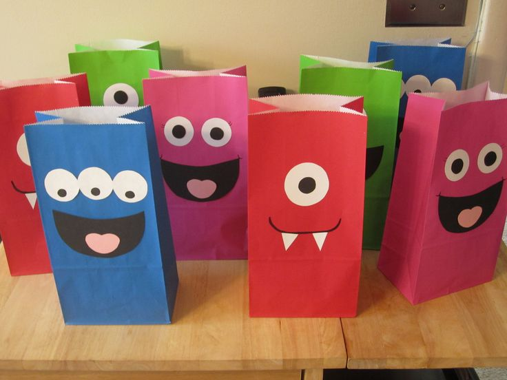 Monster Birthday Party Favor Bags. @Perri Newman Newman Newman Sams what we were talking about earliet