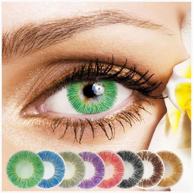 Halloween Color eye 2Pcs/1Pair Soft Bright Blue Eye Wear Make Up Tool Big Eyes C…