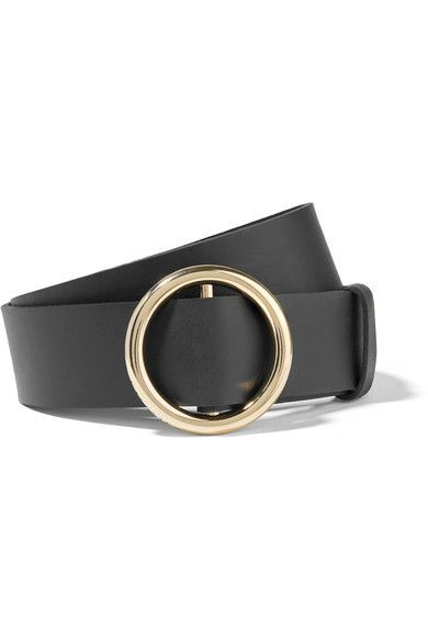 Black leather (Cow) Buckle fastening