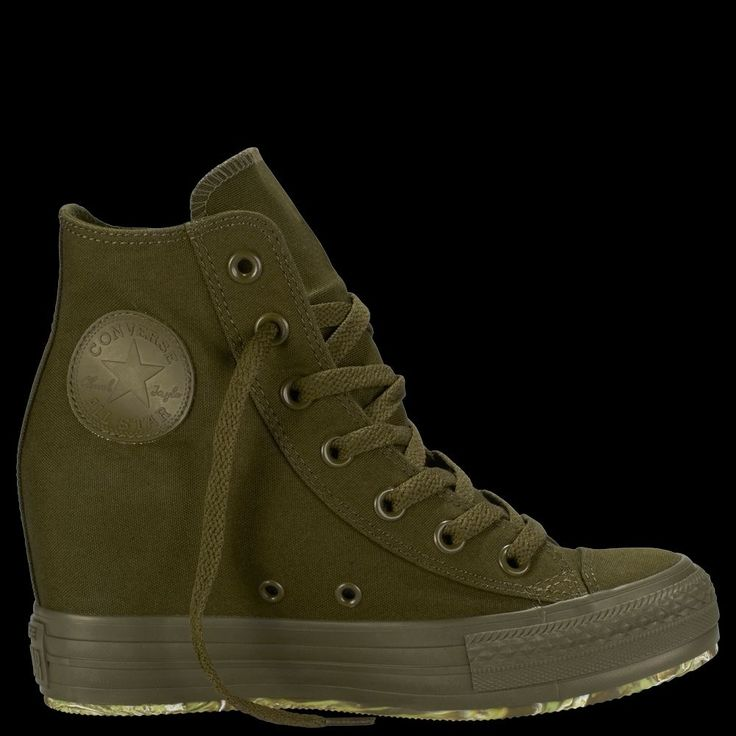 NIB Converse Platform Plus Hidden Wedge Sneaker Palm Green Olive Womens Sz 7 #Converse #FashionSneakers