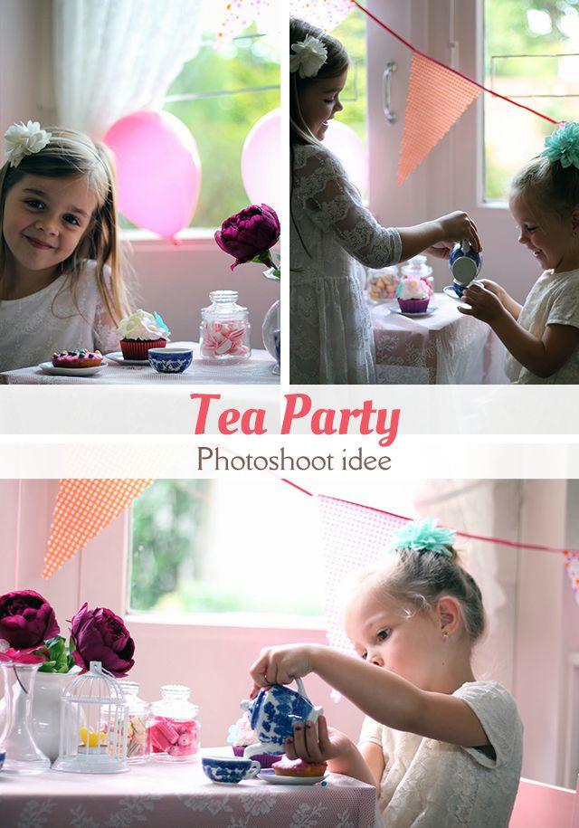 Een idee voor een photoshoot voor meisjes: een tea party.