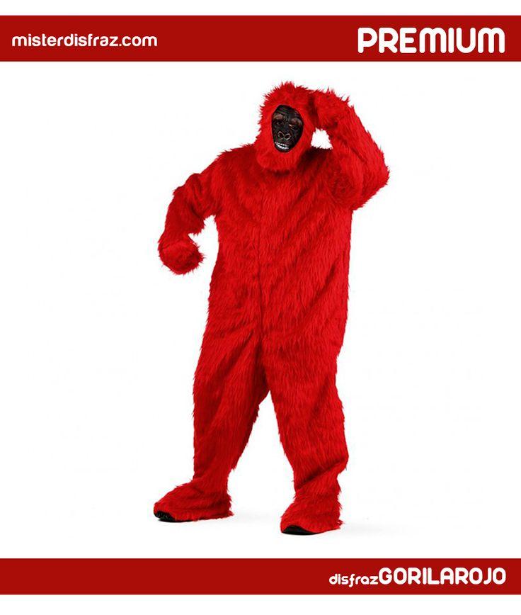 Disfraz de Gorila Rojo Australiano. Despampanante disfraz de Gorila en diferentes colores; muy recomendable para disfrazarse en grupo,en comparsas, despedidas de soltero o en carnavales. #disfraz #disfraces #disfrazgorila #carnaval #premium #disfracespremium #premiumanimales #gorila #gorilarojoaustraliano #misterdisfraz