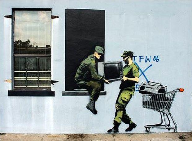 graffiti-de-banksy-en-nueva-orleans  http://www.banksy.co.uk/menu.html