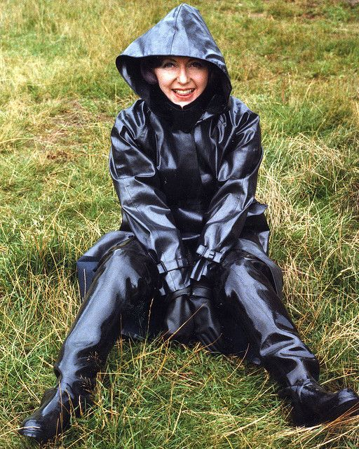 Black Rubber Raincoat & Black Rubber Waders | SBR ...