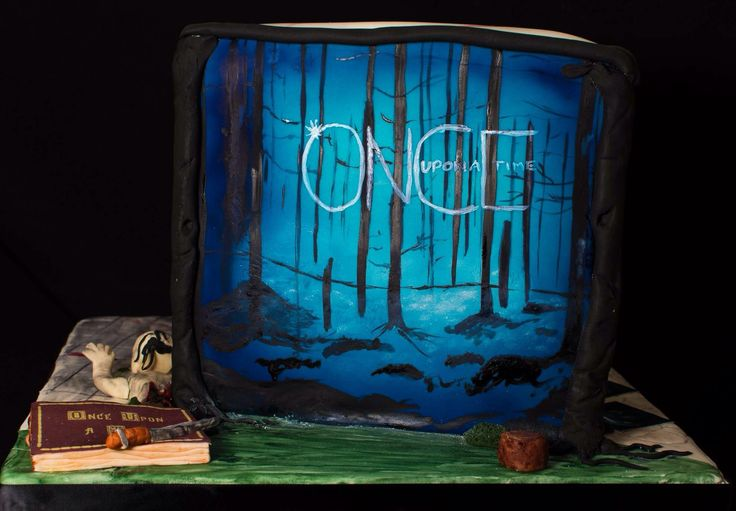 Once upon a time side - airbrushed and painted details, together with the book and dagger.