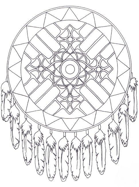 free native american mandala coloring pages Design